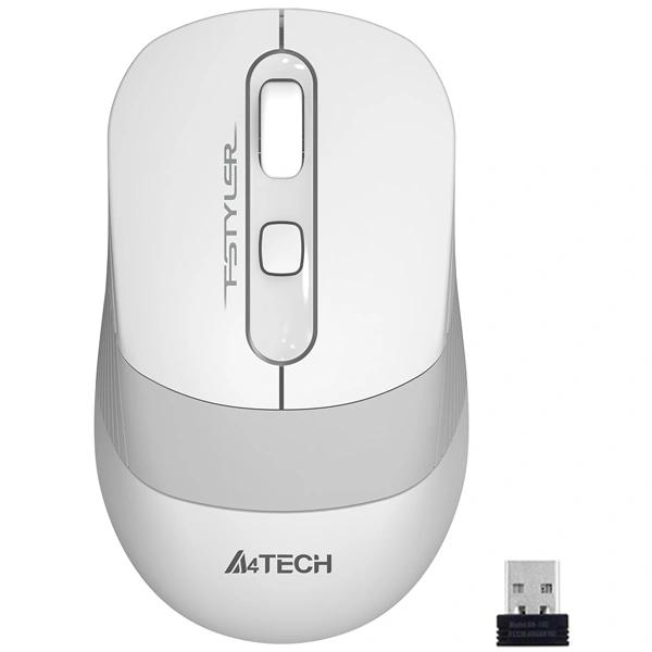 Мышь беспроводная A4tech Fstyler FG-10 White