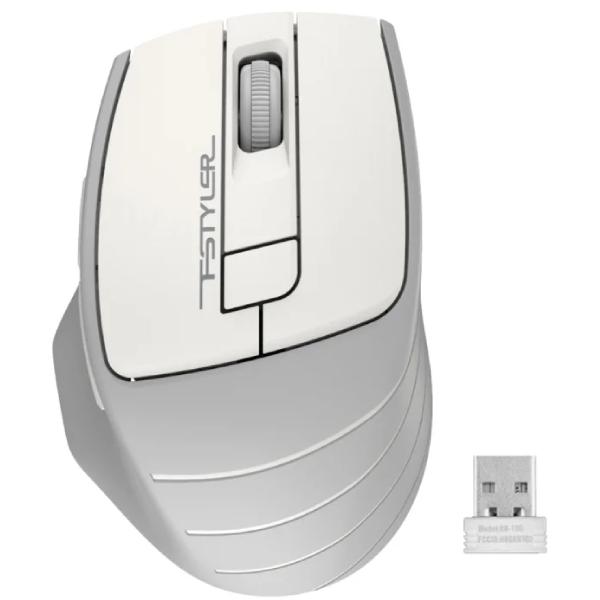 Мышь беспроводная A4tech Fstyler FG-30S White