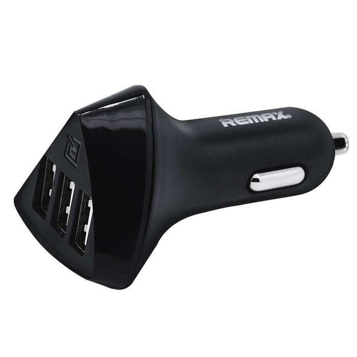 Автомобильное зарядное устройство Remax RCC-304 Alien Series 3USB Black