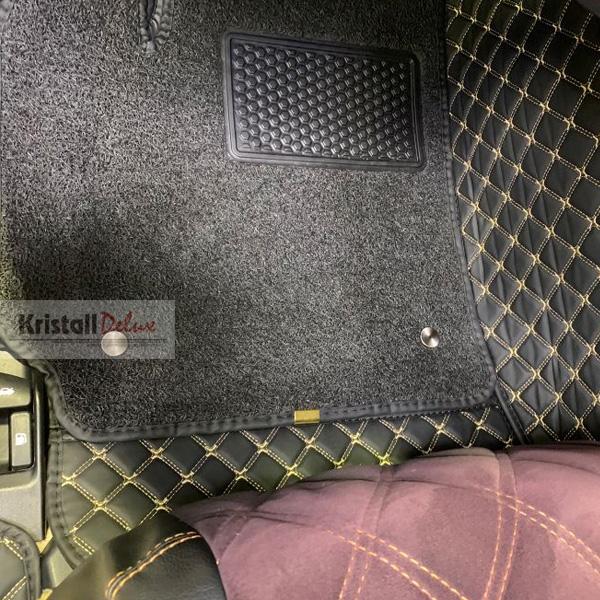 Коврики Kristall-auto Toyota Camry 50 2011-2017 черный / бежевый