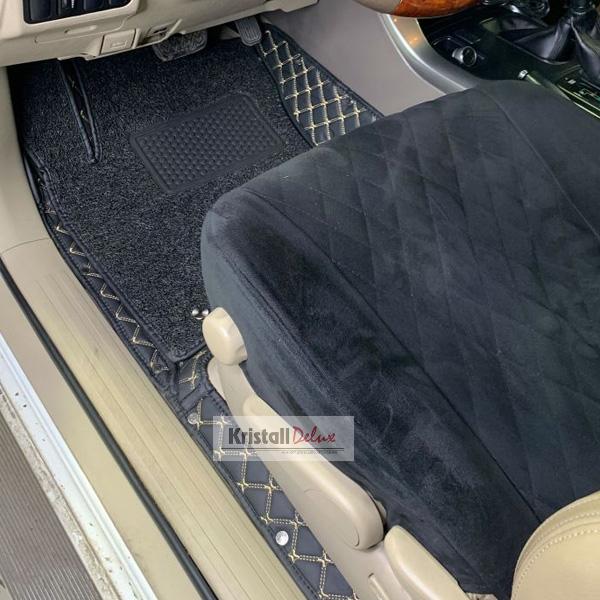 Коврики Kristall-auto Land Cruiser Prado 120 2003-2009/Lexus GX470 2003-2009 черный / бежевый
