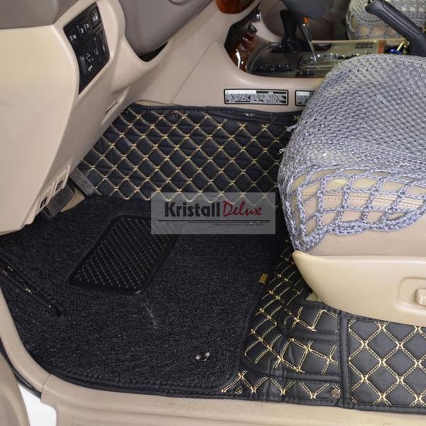 Коврики Kristall-auto Toyota Land Cruiser 100 1998-2007 и Lexus LX470 1998-2007 черный/бежевый