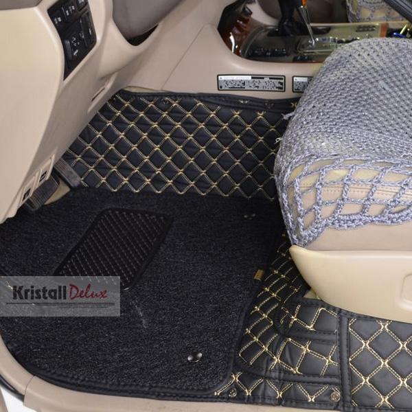 Коврики Kristall-auto Toyota Land Cruiser 200 2008-2019/Lexus LX570 2008-2019 черн/беж.