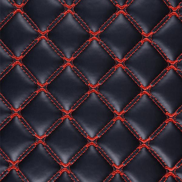 Коврики Kristall-auto Toyota Corolla 2013-2017 черный / красный