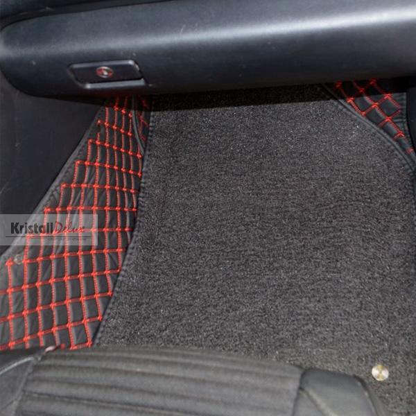 Коврики Kristall-auto Toyota Rav-4  2013-2018 Черный / красный