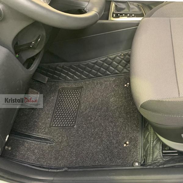 Коврики Kristall-auto Hyundai Solaris 2017-2019 и Hyundai Accent черный