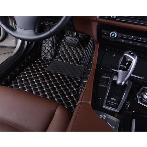 Коврики Kristall-auto Volkswagen Touareg 2002-2010 черный/бежевый