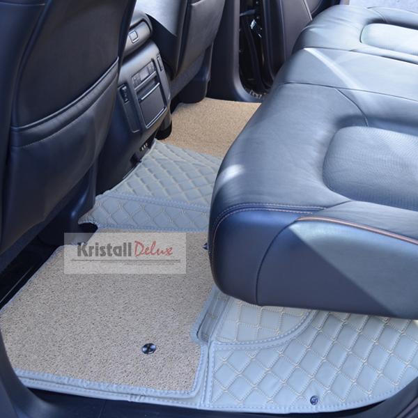 Коврики Kristall-auto Nissan Patrol Y62 2010-2019 и Infiniti QX56 2010-2013, QX80 2014-2019 бежевый
