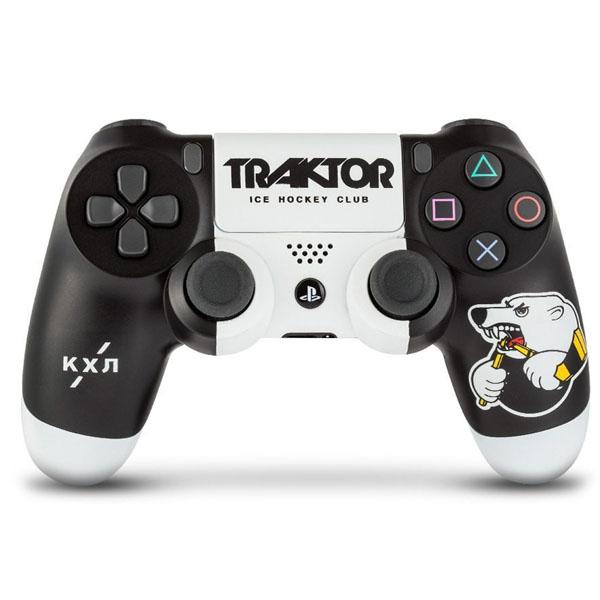 """Беспроводной геймпад Rainbo КХЛ """"Трактор"""" Custom PS4 Dualshock"""