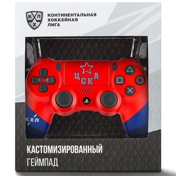 """Беспроводной геймпад Rainbo КХЛ """"ЦСКА"""" Custom PS4 Dualshock"""