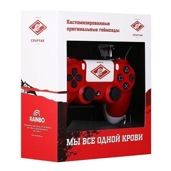 """Беспроводной геймпад Rainbo Спартак """"Красно-белый""""  Custom PS4 Dualshock"""