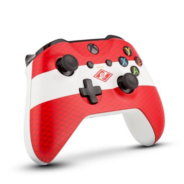 "Беспроводной геймпад Rainbo ""Красно-белый""  Custom Xbox One"