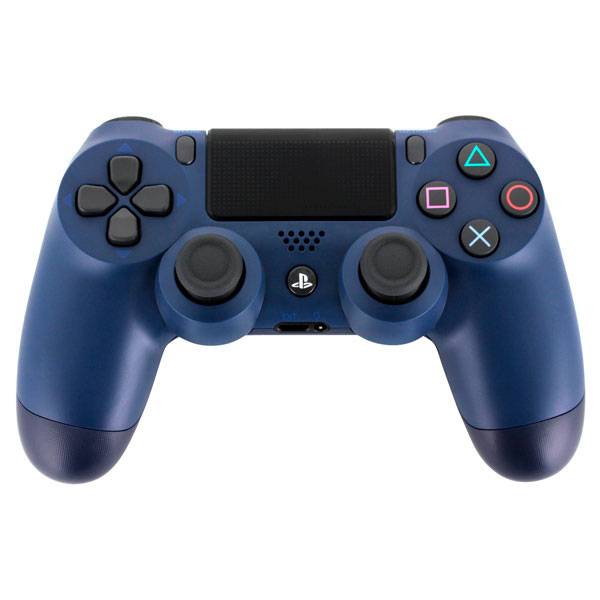 Джойстик Sony PS4 Dualshock 4 Cont Midnight Blue (v2/RUS)