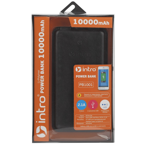 Power bank Intro PB1001 Black
