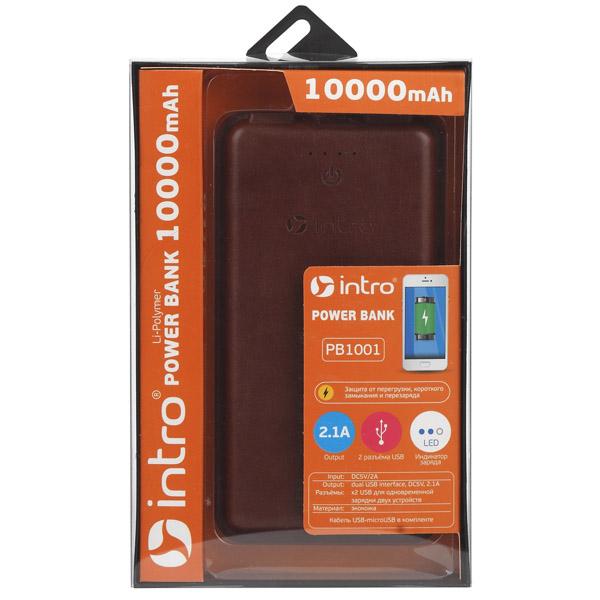 Power bank Intro PB1001 Brown