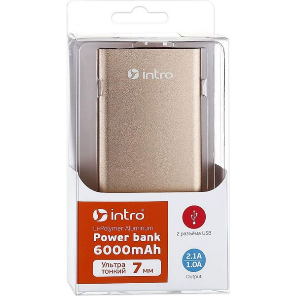 Power bank Intro 6000mAh PB06 Gold