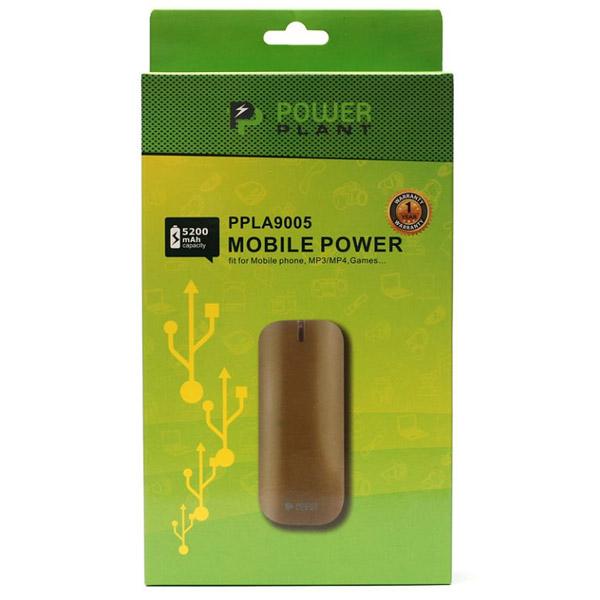 Универсальный powerbank PowerPlant PB-LA9005, 5200mAh,универсальный кабель