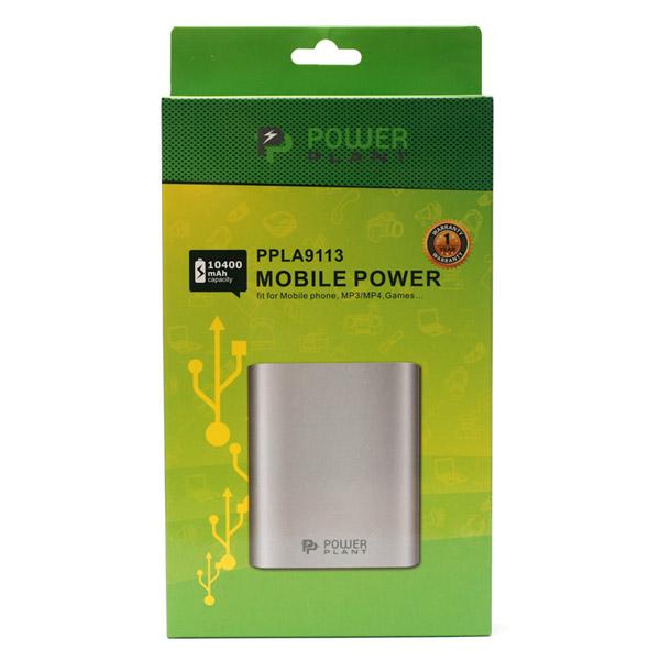 Универсальный powerbank PowerPlant PB-LA9113, 10400mAh,универсальный кабель