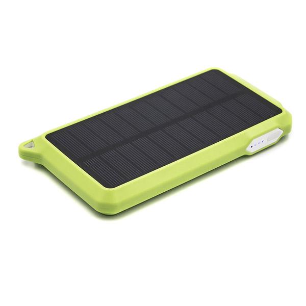 Универсальная cолнечная мобильная батарея PowerPlant PB-SS002 10000mAh White Green