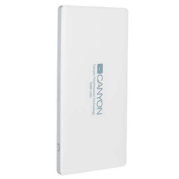 Power bank Canyon 5000mAh CNS-TPBP5W White