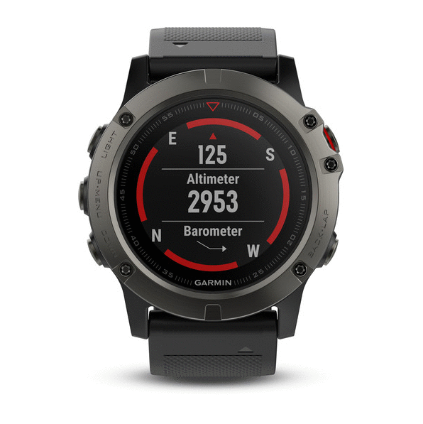 Смарт-часы Garmin Fenix 5X Sapphire (Slate grey with black band)