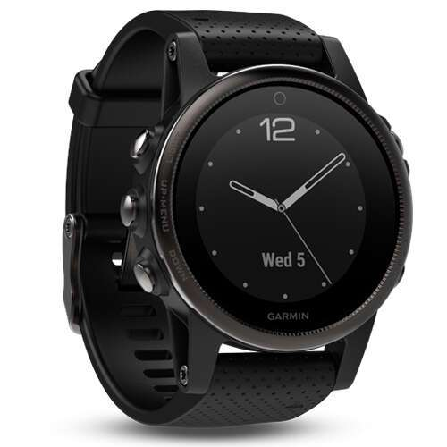 Смарт-часы Garmin Fenix 5S Sapphire (Slate grey with black band)