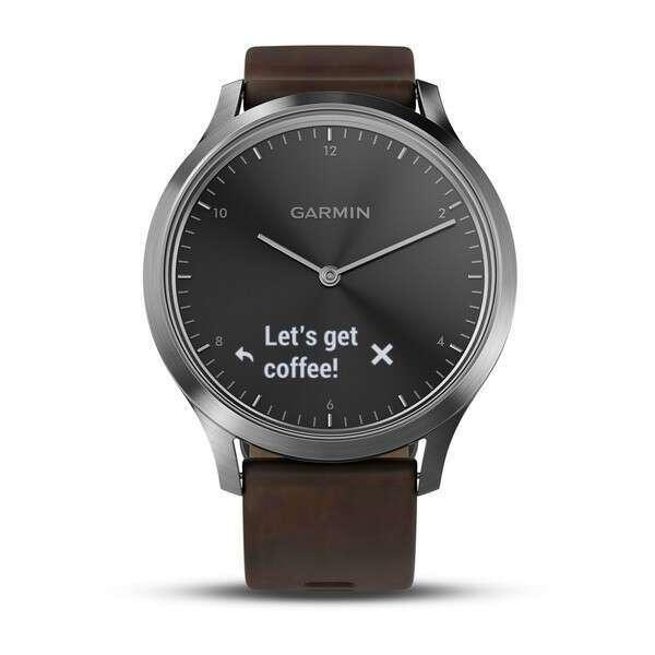 Смарт-часы Garmin vivomove HR Premium (Black-Silver) 010-01850-24