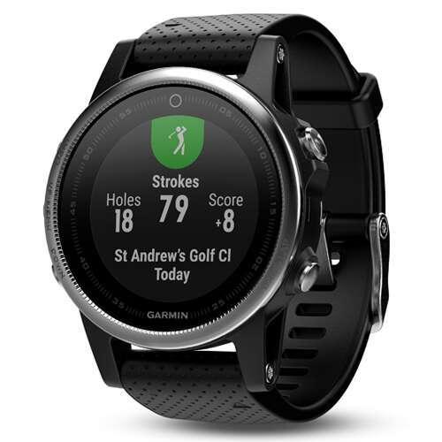 Смарт-часы Garmin Fenix 5S Silver с черным ремешком (010-01685-02)