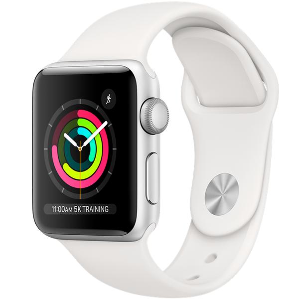 Cмарт часы Apple Watch Series 3 42mm Silver with sport band (MTF22)