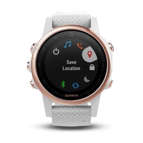 Смарт-часы Garmin Fenix 5 Sapphire розовое золото с белым браслетом (010-01685-17)
