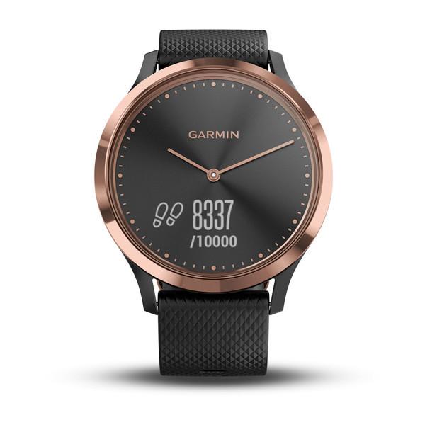 Спортивные часы Garmin vívomove HR розовое золото-черный (010-01850-26)