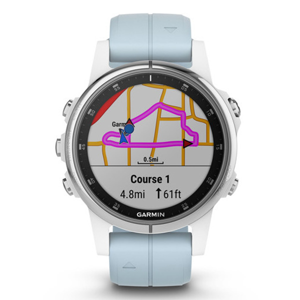 Часы с GPS навигатором Garmin Fenix 5S Plus Белый (010-01987-23)