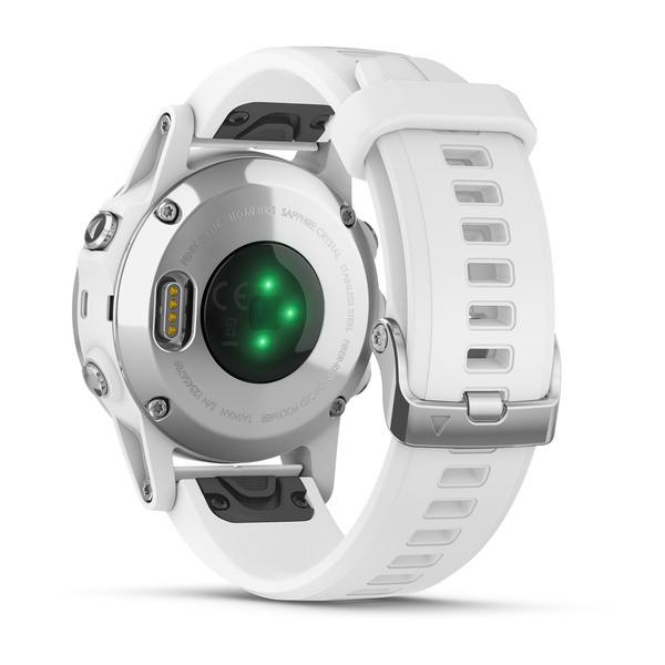 Часы с GPS навигатором Garmin Fenix 5S Plus Белый (010-01987-01)