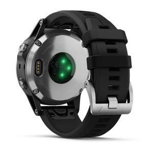Часы с GPS навигатором Garmin Fenix 5 Plus Серебристые с черным (010-01988-11)