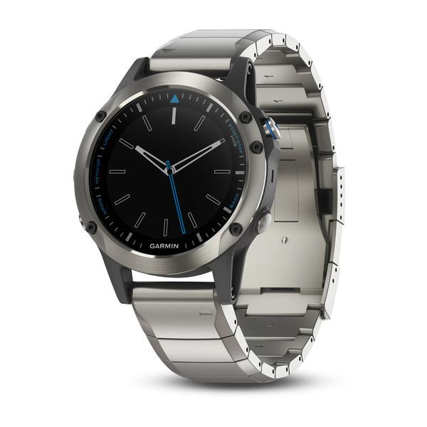 Часы с GPS навигатором Garmin Quatix 5 Серебристый (010-01688-42)