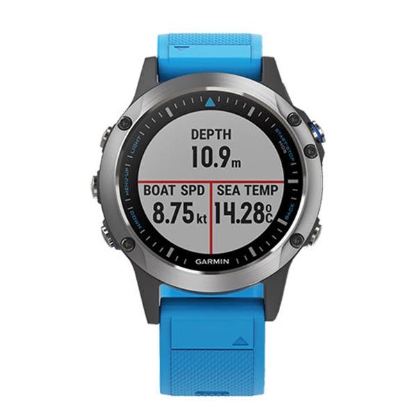 Часы с GPS навигатором Garmin Quatix 5 Синий (010-01688-40)