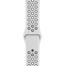 Смарт часы Apple Watch Nike+ Series 4 40 mm, спортивный ремешок цвет чистая платина/черный (MU6H2GK/A)