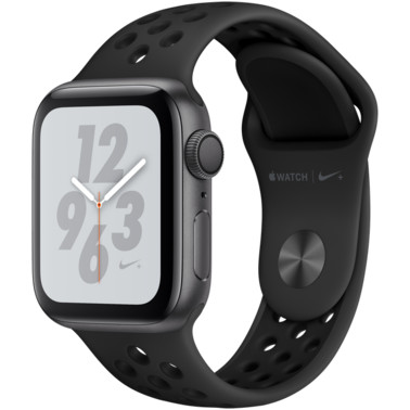 Смарт часы Apple watch Nike+ Series 4 GPS Space Grey Aluminium Case with Anthracite/Black Nike Sport Band (MU6J2GK/A)