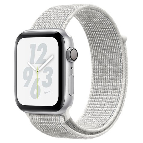 Смарт часы Apple Watch Nike+ Series 4 40mm Silver, серебристого цвета с Summit White Nike Sport Loop (MU7F2GK/A)