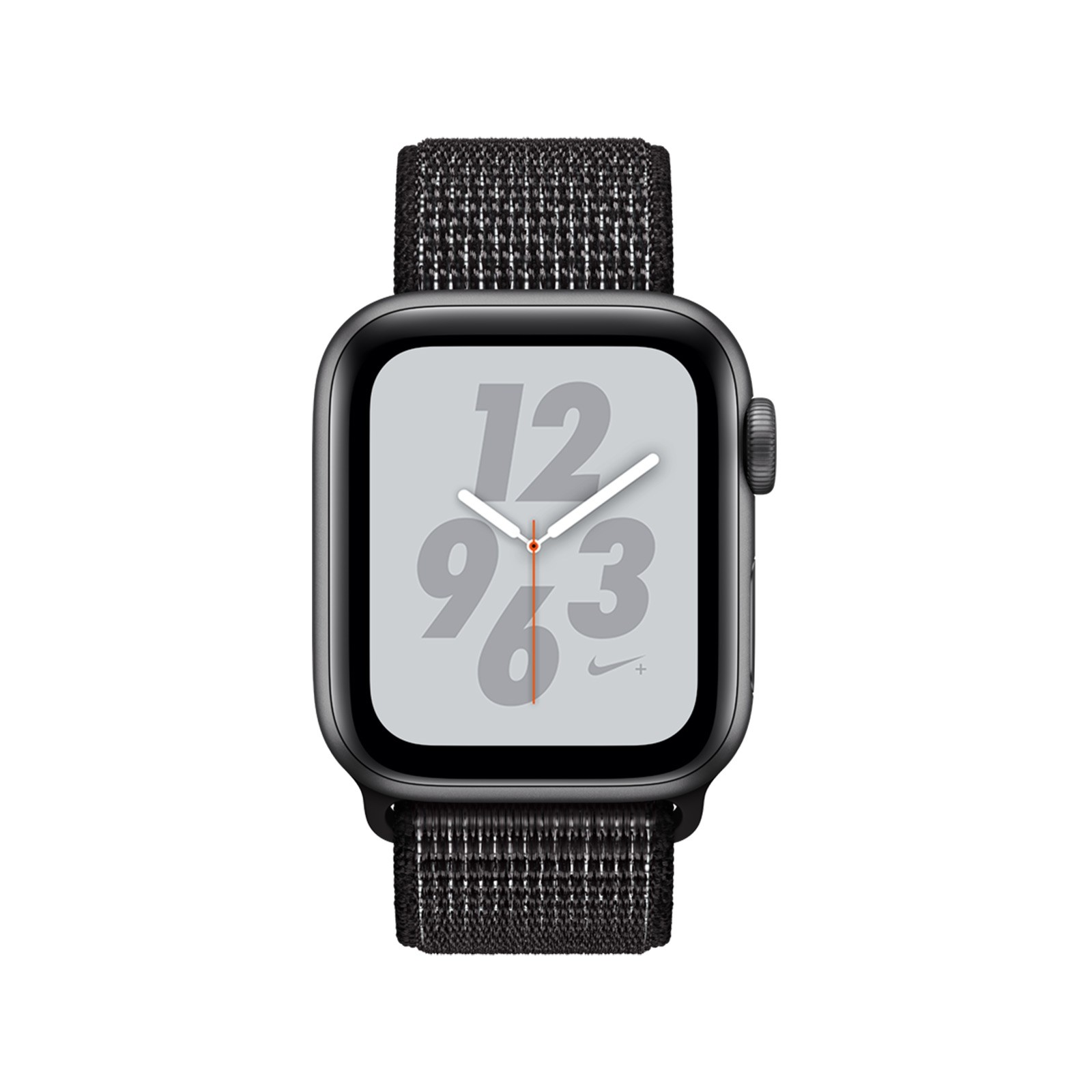 Смарт часы Apple watch Nike+ Series 4 GPS 40mm Space, спортивный ремешок  черного цвета (MU7G2GK/A) Nike+ Series 4 GPS 40mm Space Grey Aluminium Case with Black Nike Sport Loop (MU7G2GK/A)