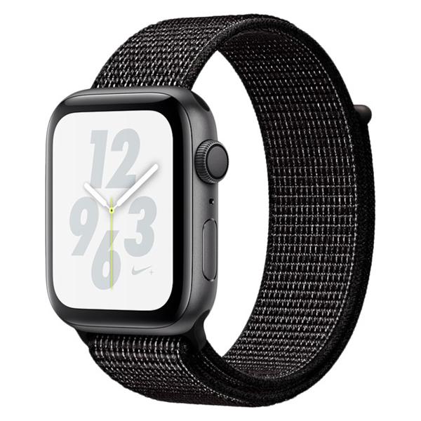 Смарт часы Apple Watch Nike+ Series 4 44mm Space Grey, спортивный ремешок черного цвета (MU7J2GK/A)