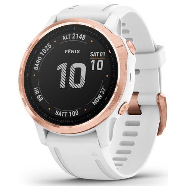 Смарт часы Garmin Fenix 6S Pro Rose Gold with White Band (010-02159-11)