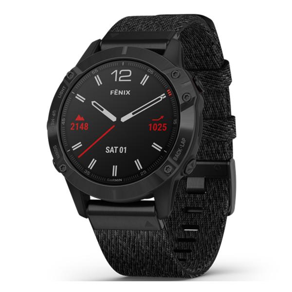 Смарт часы Garmin Fenix 6 Sapphire с плетеным нейлоновым ремешком (010-02158-17)