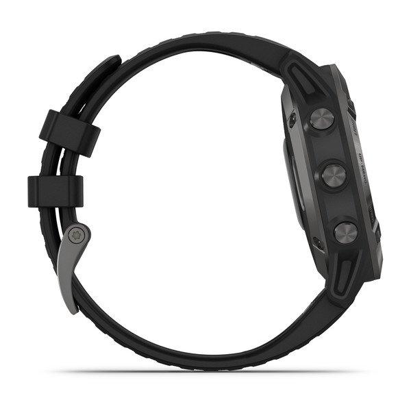 Смарт часы Garmin Fenix 6 Sapphire серый с черным ремешком (010-02158-11)
