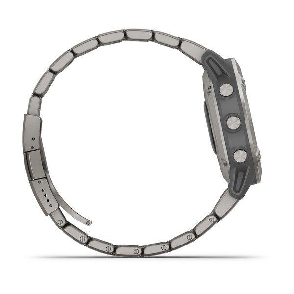 Смарт часы Garmin Fenix 6 Sapphire титановый с титановым браслетом (010-02158-23)