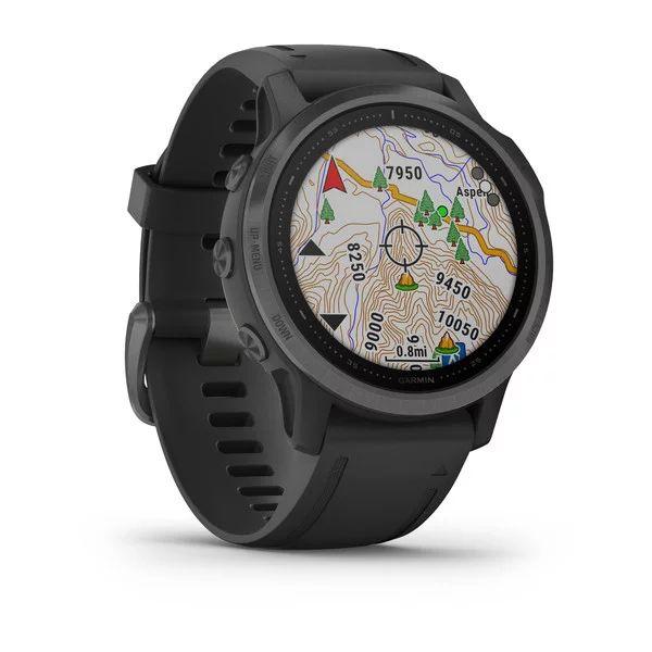 Смарт часы Garmin Fenix 6s Sapphire серый с черным ремешком