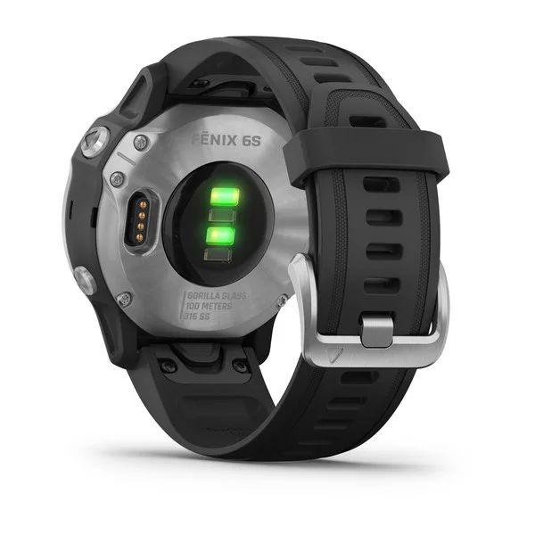 Смарт часы Garmin Fenix 6s серебристый с черным ремешком