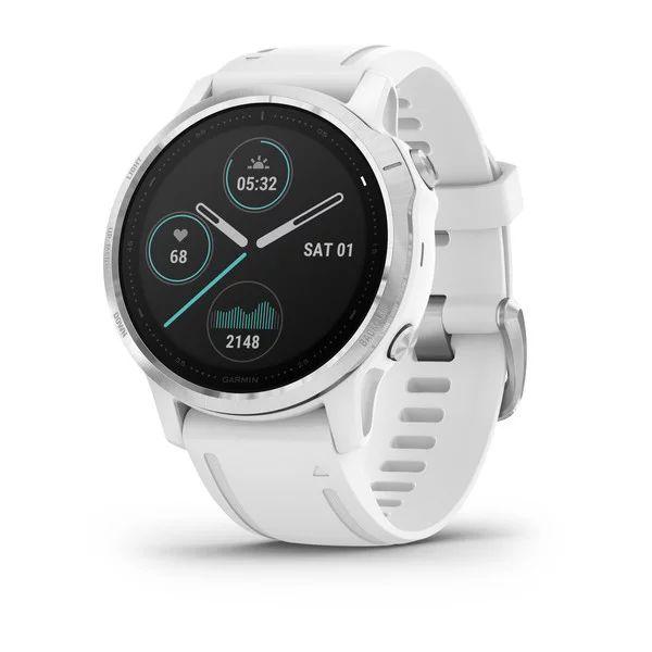 Смарт часы Garmin Fenix 6s белый с белым ремешком