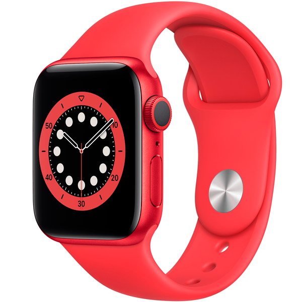 Смарт часы Apple Watch Series 6 GPS 40mm Aluminium Case with PRODUCT(RED) Sport Band (M00A3)
