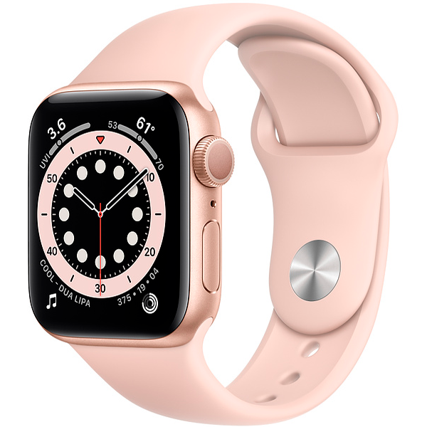 Смарт часы Apple Watch Series 6 GPS 40mm Gold Aluminium Case with Pink Sand Sport Band (MG123)